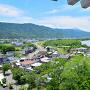 模擬天守から、吉野川と南西部の眺め