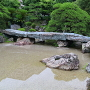 雨後の枯山水庭(表御殿庭園)