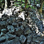 鉄門跡付近石垣