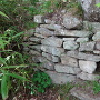 主郭付近の石積②