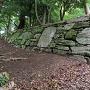 西二の丸 鉄砲櫓跡の石垣(1)