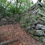 帳櫓(とばりやぐら)跡石垣を、北西から