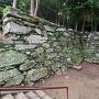 西三の丸門跡から繋がる石垣(1)
