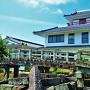 濠跡に架かる天川橋と御着城(姫路市東出張所)