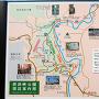 摂津峡公園周辺案内図@塚脇停留所