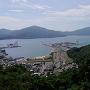 展望台からの金ヶ崎城