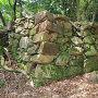 南の丸、雁木横の石垣