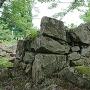 天守台付近の石垣