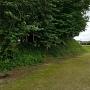 本丸土塁と堀跡