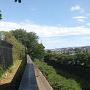 普済寺南西側は残堀川崖