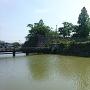 欄干橋辺りの掘と石垣