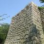二の丸より本丸の櫓の石垣を見る