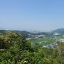 明神丸より徳島市内、眉山を見る