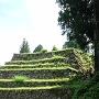 本丸北東面の6段の石垣