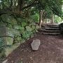 材木櫓跡近くの石垣(2)