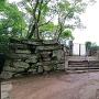 西三の丸門跡を、広角で