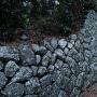通路脇の石垣