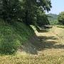 本丸と二の丸の間の堀跡