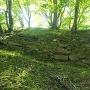 本丸跡の現存石垣