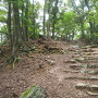 石段と虎口