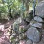 本丸巨石付近の石垣
