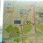 JR小机駅の連絡通路に貼ってある案内図