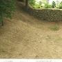 堀切の中の石垣