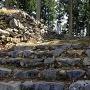 主郭虎口の石段