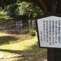 城址ふもとの南側にある桂広澄の墓