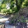 東隅櫓に続く石垣