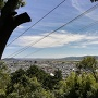 登山道中腹からの景色