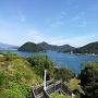 櫓から見える駿河湾の風景