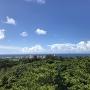 一の郭から残波岬方面の眺望
