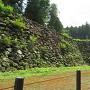 本丸北西面石垣