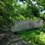 櫓台上から見た京橋口枡型の巨石