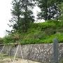 本丸土塁と本丸跡公園内の於大の方生誕地の碑