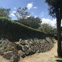 かろうじて残存している石垣の下部