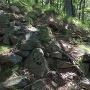 主郭南の石垣