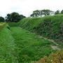 本丸南側石垣と空堀