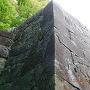 本丸北西側下石垣