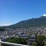 天守最上階から見た雲仙岳