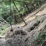 下山道 土砂崩れ