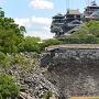 二の丸広場から見た宇土櫓と大小天守