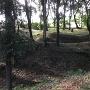 主郭北側土塁から三郭方面を撮影