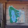 武蔵の庭園の案内板