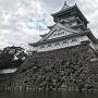 小倉城天守 濠側から