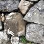 黒木書院の前にある石垣の印