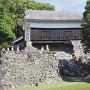 熊本城石碑と馬具櫓