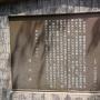 赤山城跡 案内板