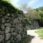 本丸虎口から眺める本丸の石垣